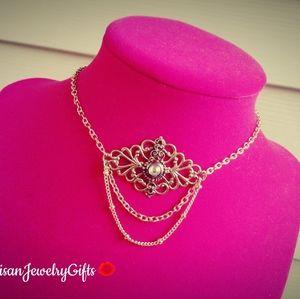 Moonstone Art Nouveau Choker Necklace
